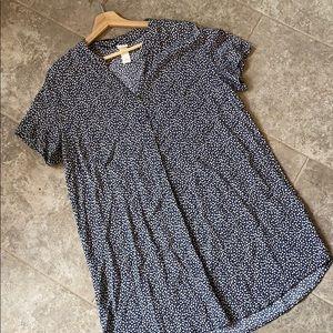 H&M Daisy print short sleeve tunic top/ mini dress